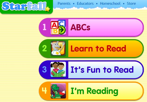 starfall and more starfall the calendar features and the abc chart