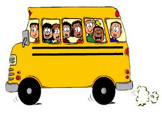 children on a schoobus clipart