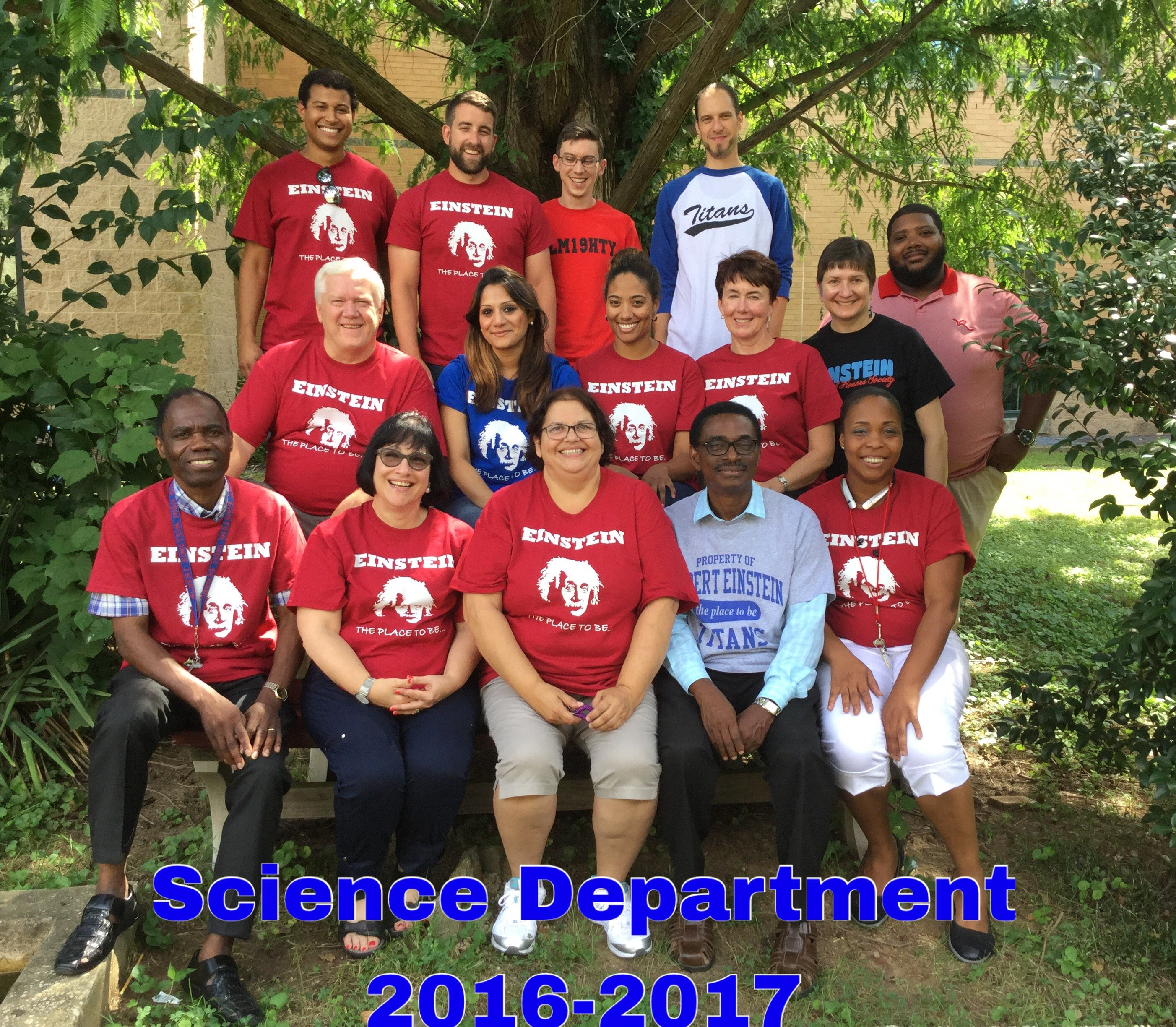 Science Department 2016-2017