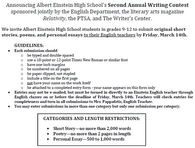 middle school essay contets in maryland