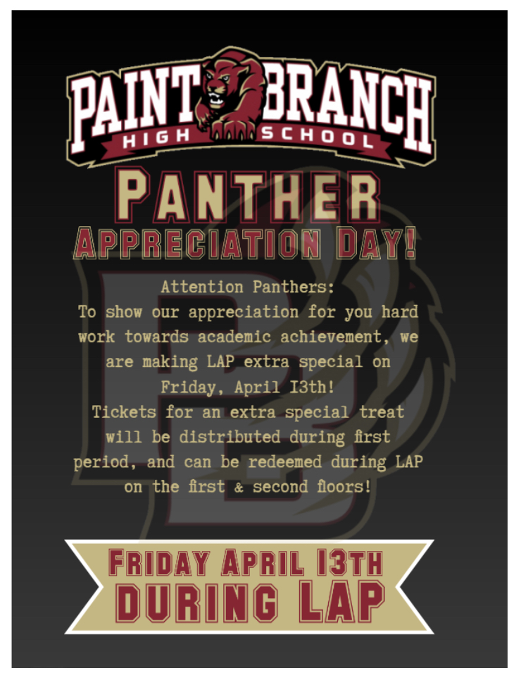Panther Appreciation Day 2018