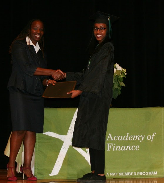 Student at 2015 AOF Graduation