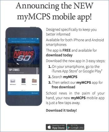 myMCPS App Search