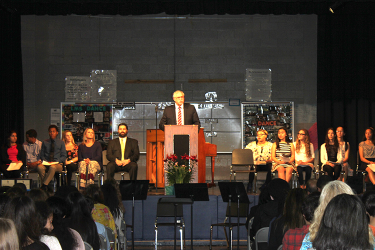 NJHS ceremony 2016 Click on the image to view a slideshow.