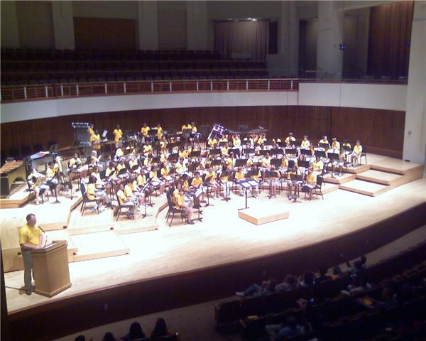 NMS students participate in the Maryland Orchestra this past summer.