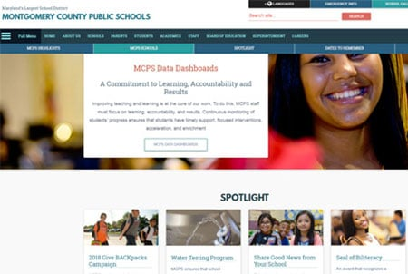 mcps website design