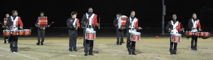 Drumline at Homecoming