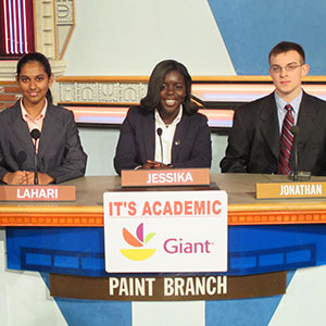 It's Academic Club at Paint Branch High School