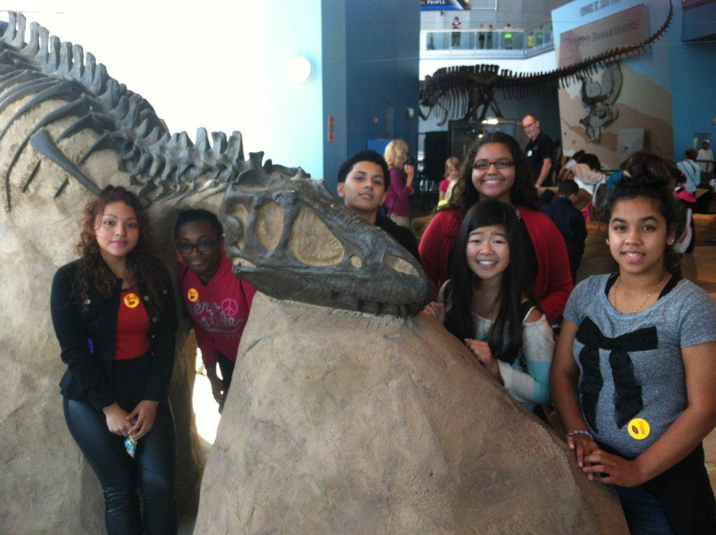 Students at the MD Science Center