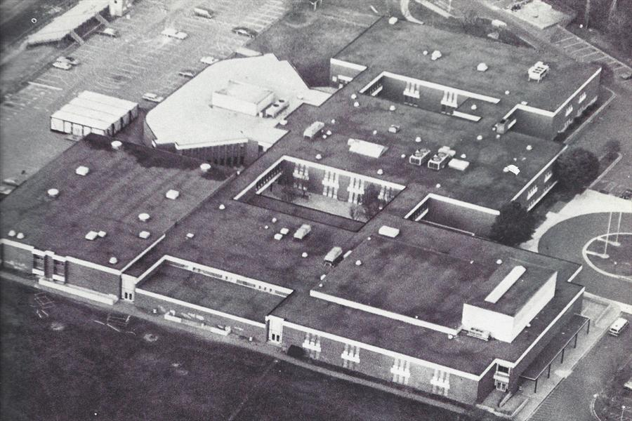Aerial photo of Rockville High School