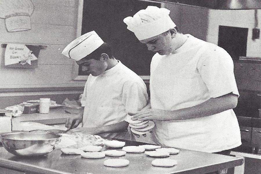 Rockville High School Cafeteria in the early years