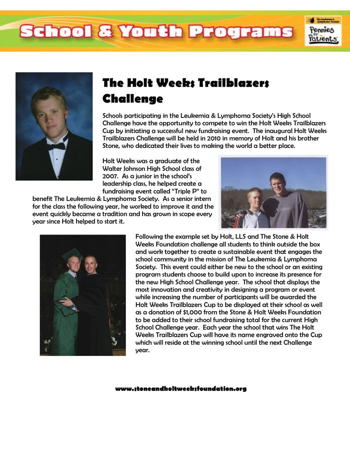 Holt Weeks Trailblazers Challenge